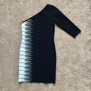 One Shoulder Bandage Dress